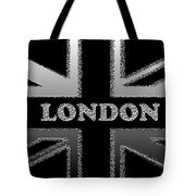 London Modern Union Jack Flag Tote Bag