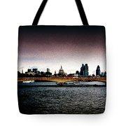 London Over The Waterloo Bridge Tote Bag