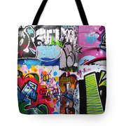 London Skate Park Abstract Tote Bag by Rona Black