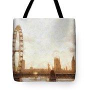 London Skyline At Dusk 01 Tote Bag
