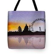 London Skyline At Sunset Tote Bag