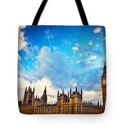 London Uk Big Ben The Palace Of Westminster Tote Bag
