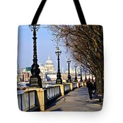 London View From South Bank Tote Bag by Elena Elisseeva