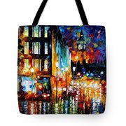 Londons Lights - Palette Knife Oil Painting On Canvas By Leonid Afremov Tote Bag