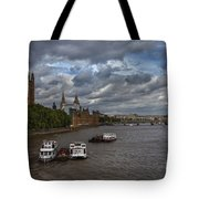London's Thames River Tote Bag