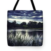 Lone Duck At Dusk Tote Bag