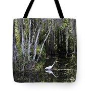 Lone Egret Tote Bag