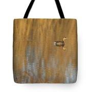 Lone Grebe Tote Bag