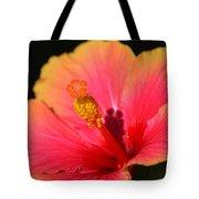 Lone Hibiscus Tote Bag