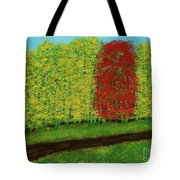 Lone Maple Among The Ashes Tote Bag
