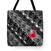 Lone Red Number 21 Fenway Park Bw Tote Bag