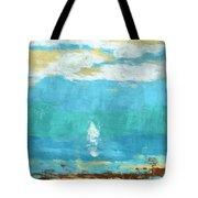 Lone Sail Tote Bag