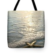 Lone Star On Lovers Key Beach Tote Bag by Olivia Novak
