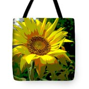 Lone Sunflower Tote Bag