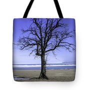Lone Tree At Fort Gratiot Light House  Tote Bag