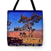 Lone Tree South Rim Poster Tote Bag