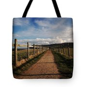Lone Walker On The North Yorkshire Coastal Path Tote Bag