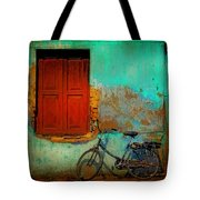 Lonely Bicycle Tote Bag