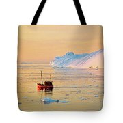 Lonely Boat - Greenland Tote Bag