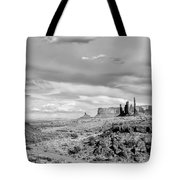 Lonely Cloud And Totem Pole - Monument Valley Tribal Park Arizona Tote Bag