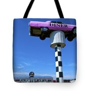 Lonely Diner With Pink Cadillac Tote Bag