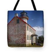 Lonely East Point Lighthouse Tote Bag