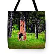 Lonely Fireplace Tote Bag