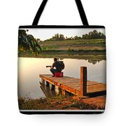 Lonely Guitarist Tote Bag
