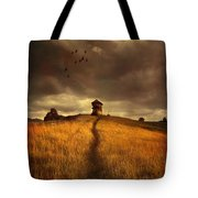 Lonely House On The Hill Tote Bag