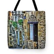 Lonely Lane In Sarlat France Tote Bag