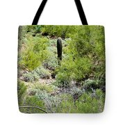 Lonely Little Saguaro Tote Bag