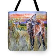 Lonely Lobo Sunset Tote Bag