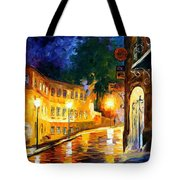 Lonely Night - Palette Knife Oil Painting On Canvas By Leonid Afremov Tote Bag