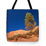 Lonely Pine On The Ocher Hill Tote Bag