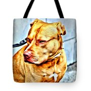 Lonely Pit Bull Tote Bag
