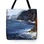 Lonely Schooner Tote Bag