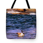 Lonely Swimmer Tote Bag