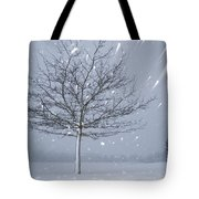 Lonely Tree In Snow Bavaria Tote Bag
