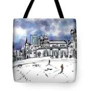 Lonely Winter Campus Tote Bag