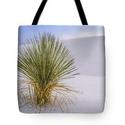 Lonely Yucca Plant In White Sands Tote Bag