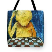 Lonesome Chess Player Tote Bag