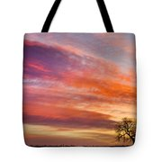 Lonesome Tree Sunrise Tote Bag