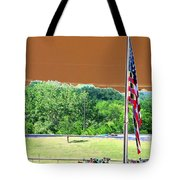 Lonestar Park - Backstretch - Photopower 2204 Tote Bag