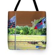 Lonestar Park - Backstretch - Photopower 2205 Tote Bag