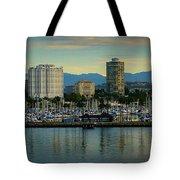 Long Beach Cityscape   Tote Bag