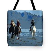 Long Beach Horses Study Tote Bag