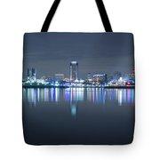 Long Beach Skyline Tote Bag