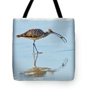 Long-billed Curlew With Crab Tote Bag