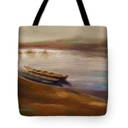 Long Boats At The Crossing Tote Bag