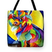Long Haired Chihuahua Tote Bag